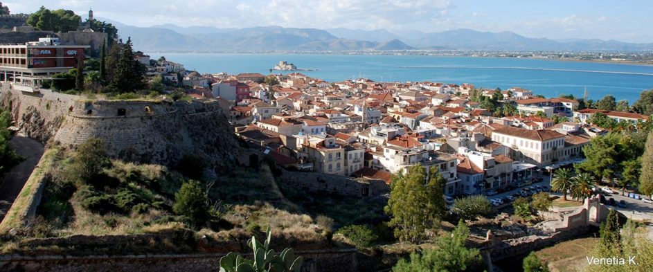 Beautiful view of the town of Nafplio