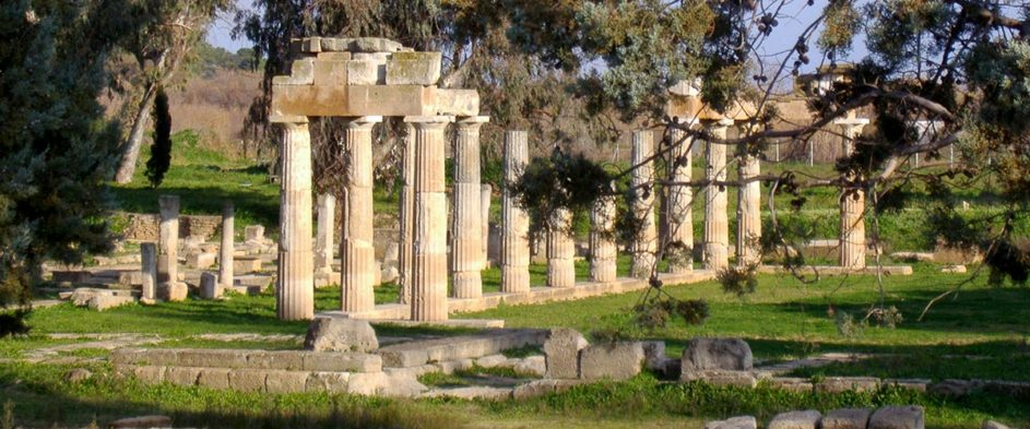 The temple of Artemis in Vravrona Athens.