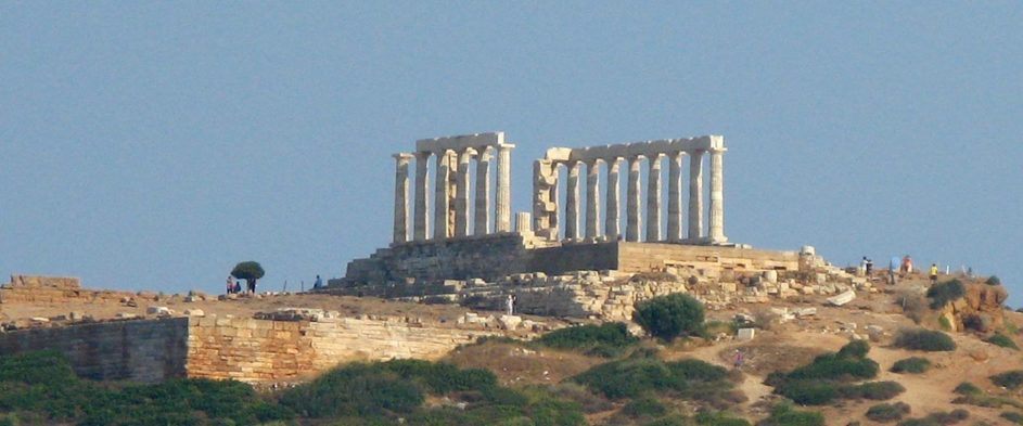 The temple of Poseidon at Cape Sounion.