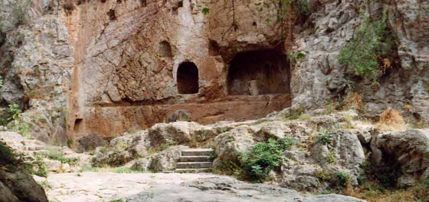 The Castalian Spring at ancient Delphi