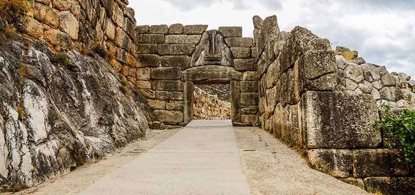 The Lion Gate at Ancient Mycenae