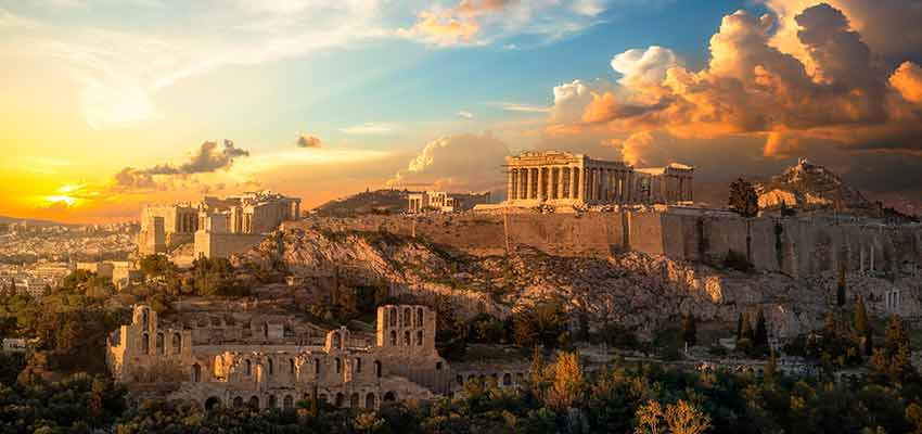 The Acropolis of Athens with the Parthenon