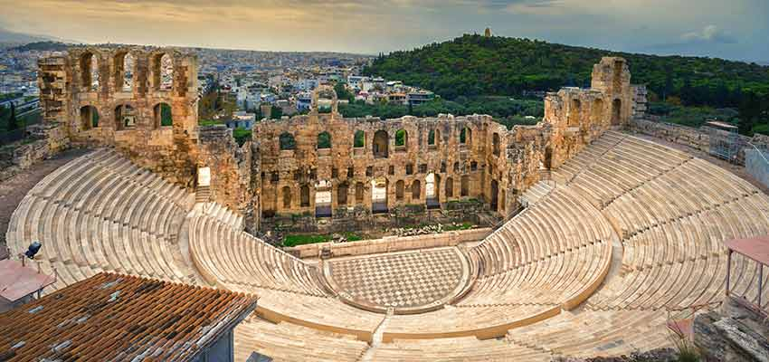 The ancient Odeon of Herodes Atticus