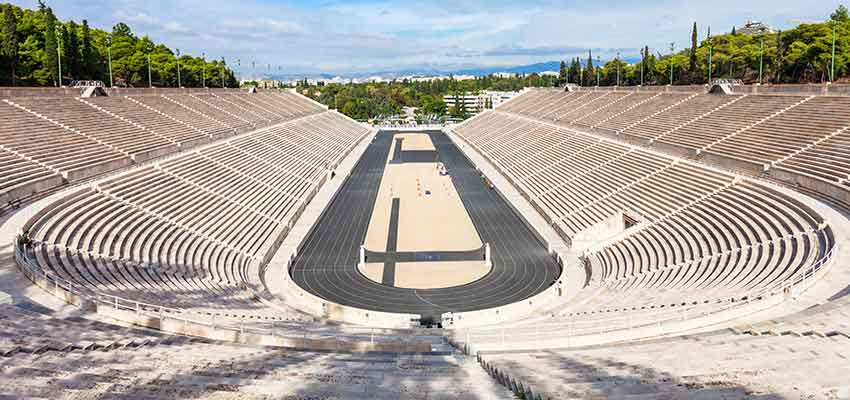 The all marble Panathenaic stadium in Athens